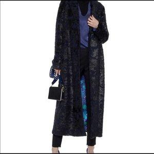 Elie Tahari - Amy Faux Fur and Felt Coat